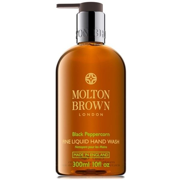 Molton Brown London Hand Wash ($28) ❤ liked on Polyvore featuring beauty products, bath & body products, body cleansers, black peppercorn and molton brown