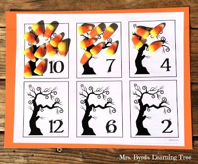 free counting mats for halloween lots of other fun ideas for halloween in a kindergarten - Halloween Art For Kindergarten