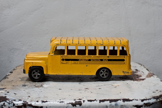 Hubley Toy School Bus Diecast Metal by whiskyginger on Etsy, $52.00