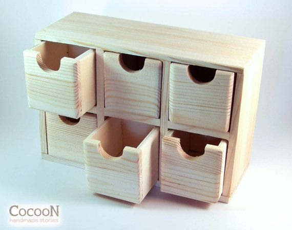 Office decor Desk accessories Desk organizer Wooden chest Wooden drawers Wooden cabinet Chest of drawers Stationary box Stationary holder