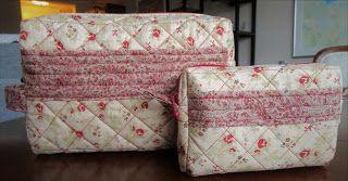 Catarinas quiltsida: Necessär och sminkväska