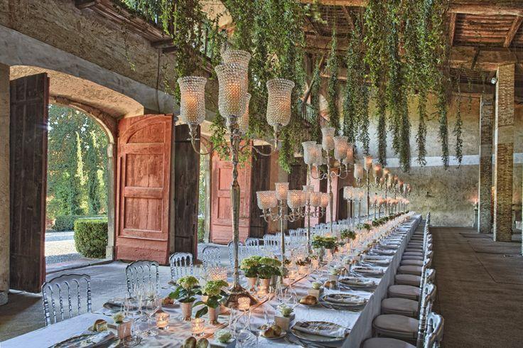 Outdoor/Indoor Tuscany wedding reception. #lightingdesign ...