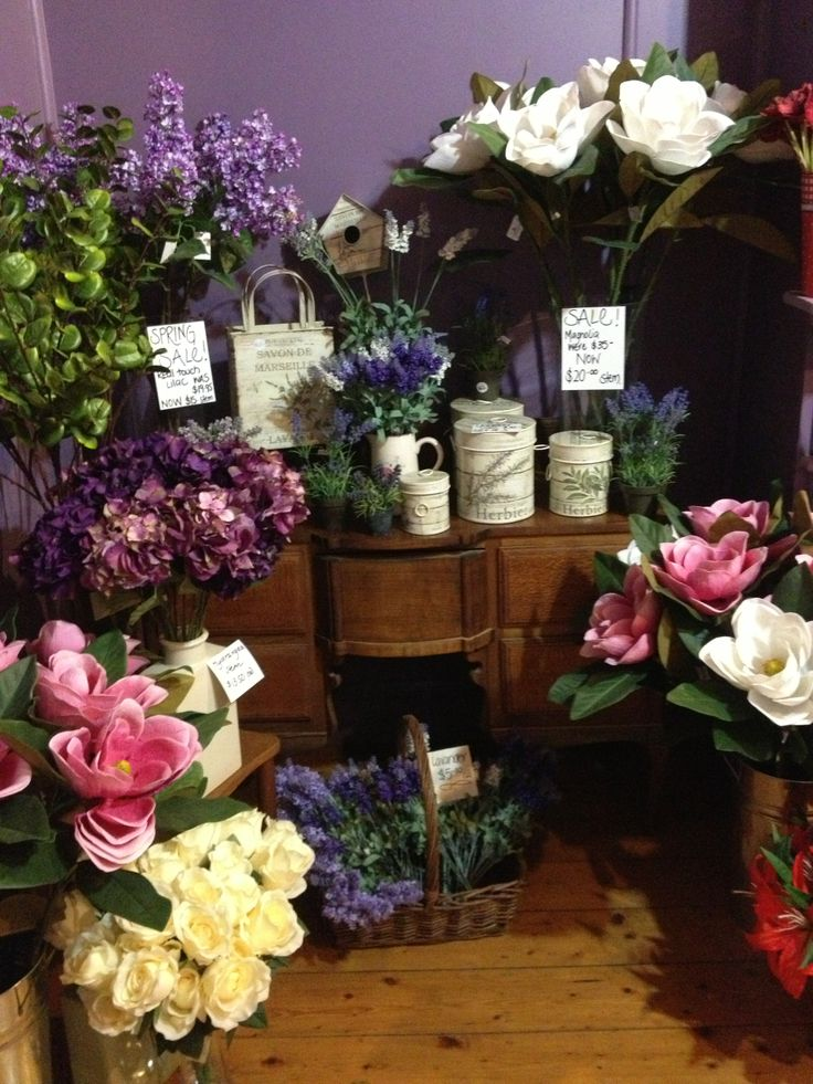 lots of gorgeous artificial flowers