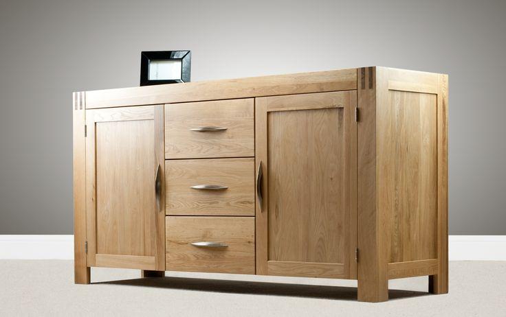Alto Solid Oak - Large Sideboard - Oak Furniture Land www.oakfurnitureland.co.uk