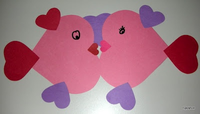 Valentine Fish - add reflection, translation and rotation for geometry lesson