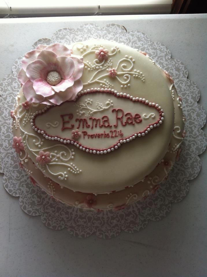 Baby dedication cake for Baby dedication decoration