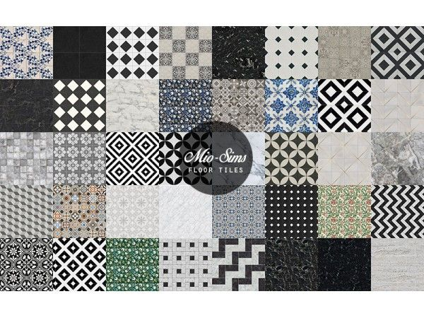 The Sims 4 Floor Tiles Set By Mio Sims Sims 4 Sims Sims 4 Cc Furniture