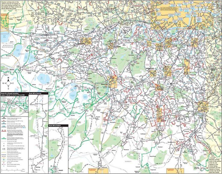 South West London bus map