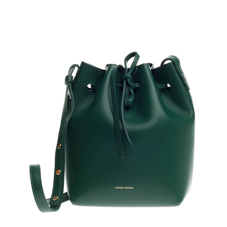 Authentic Green Mansur Gavriel Bucket Bag Leather Mini at