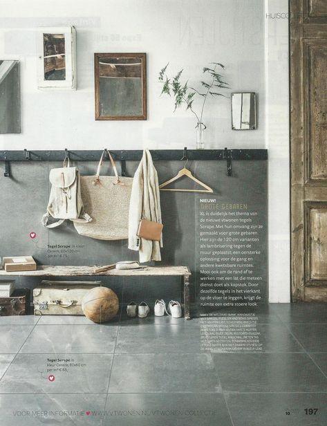 Afbeeldingsresultaat voor kapstok teak plank lambrisering