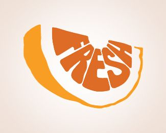 This logo is simple, but decorative. The text is utilized well, so it makes the picture look like an orange.