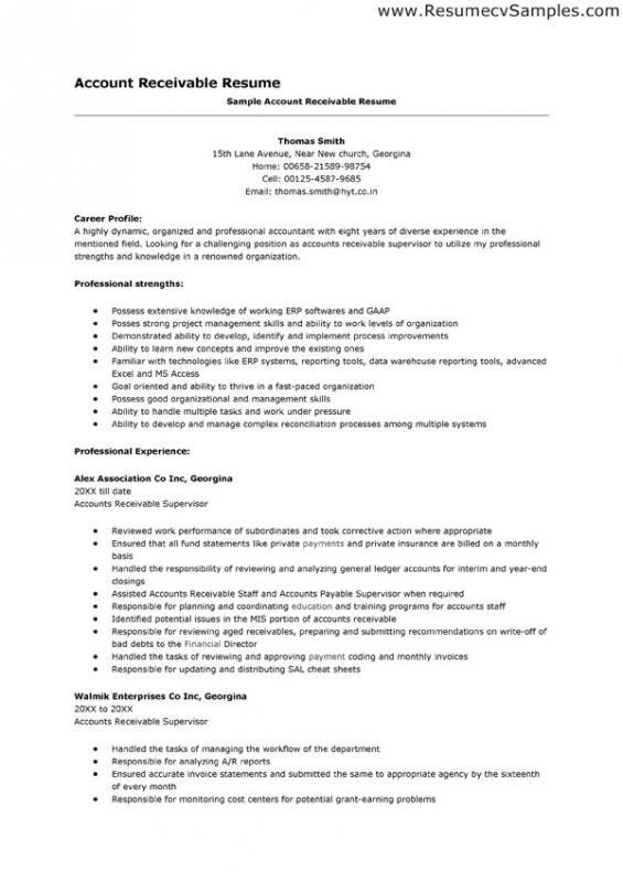 resume best business template inside accounts receivable sample and samples