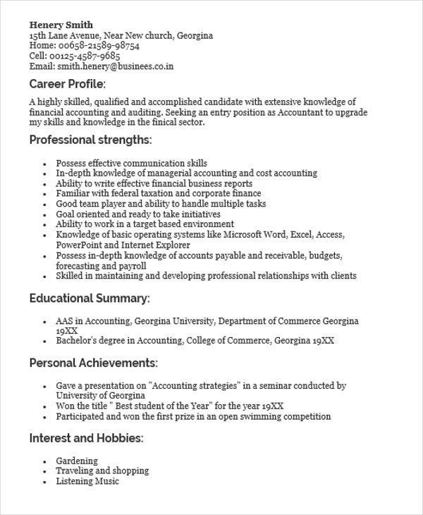 Resume Sample For Fresh Graduate Top 45 Fresher Resume Templates Pdf Doc Of 40 Cool And Elegant Res Best Resume Format Sample Resume Resume Format For Freshers