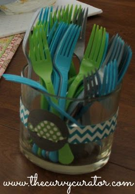 Lime green and turquoise baby shower. Party. Turtle Theme. The Curvy Curator