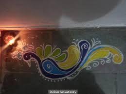 peacock rangoli designs for diwali free hand - Google Search