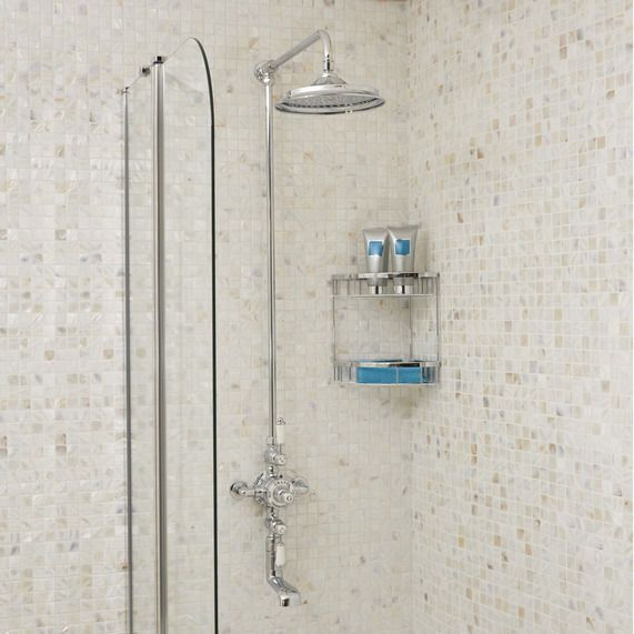 Grand Thermostatic Exposed Shower Valve With Rigid Riser Watercan Head And Bath Spout | bathstore