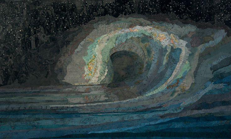 Untitled Wave (Black & Blue), 2008