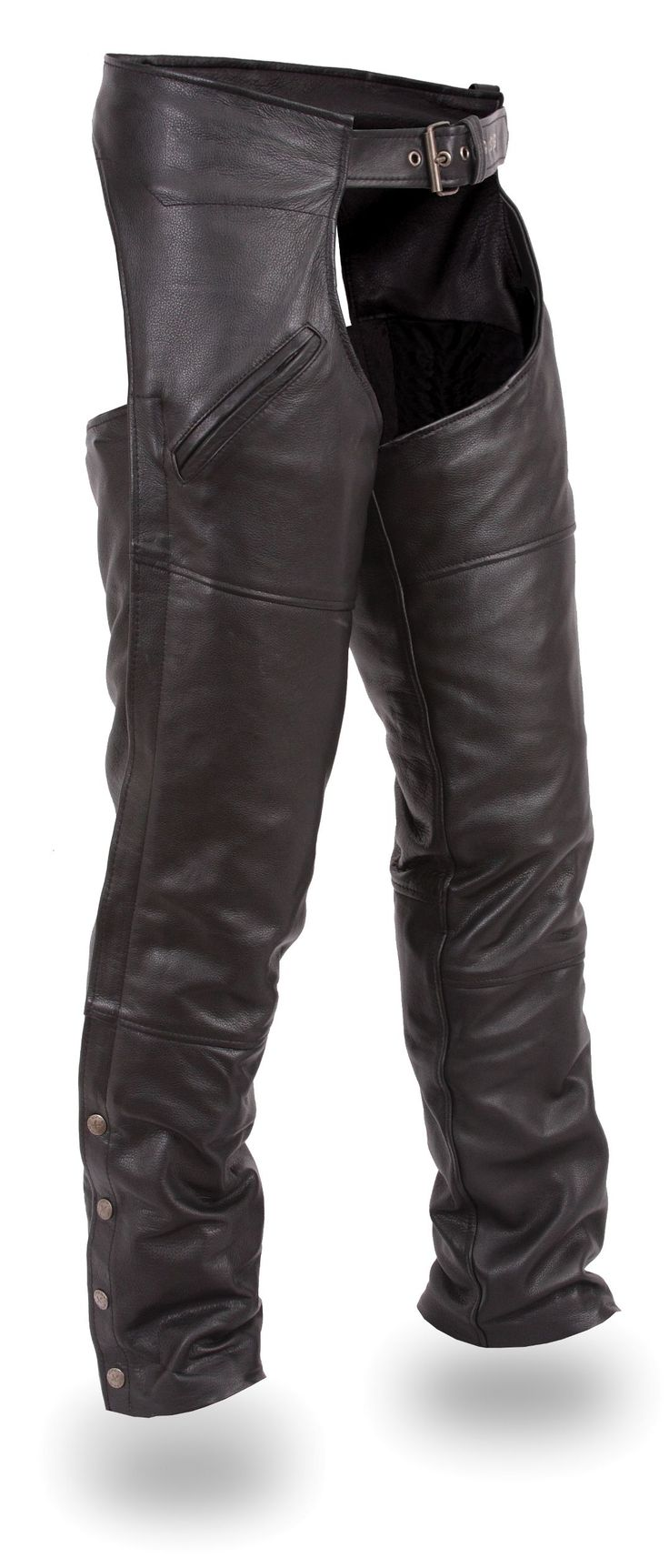 Unisex Premium Thermal Leather Motorcycle Chaps by First Mfg http://www.mymotorcycleclothing.com/