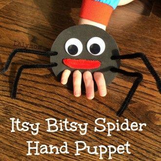 Itsy Bitsy Spider Finger Puppet- Fine Motor Fridays - LalyMom