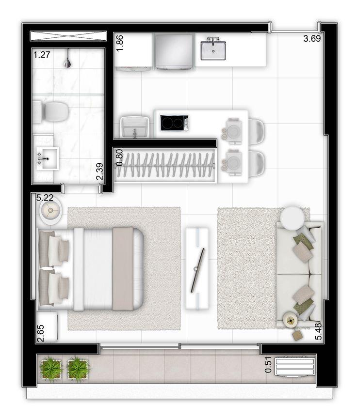 34,65m² - Open Space - Tecnisa