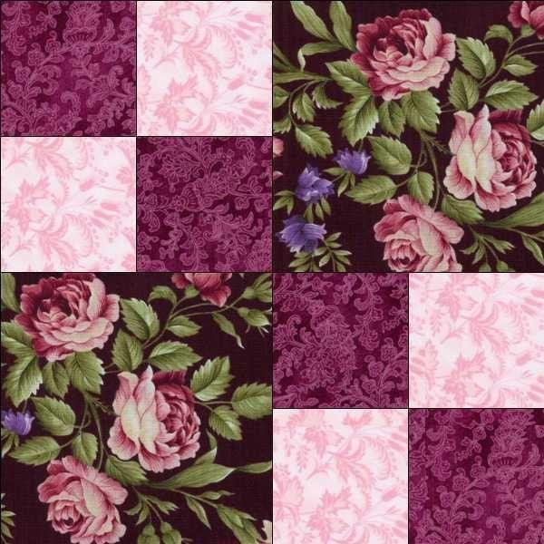 RJR Giselle Mauve Pink Burgundy Violet Floral Rose Pre Cut Quilt Kit Fabric | eBay