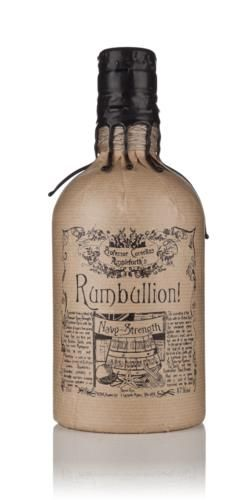 Professor Cornelius Ampleforth took his famous Rumbullion! and bottled it at Navy Strength to create a much much bigger drink. This is a warming concoction that would no doubt give a sailor vim and vigour on a stormy night!   Rumbullion! Navy Strength is made using a secret recipe with a Caribbean rum at its spicy core. Expect big spicy flavours of cardamom, clove and vanilla in this legendary spiced rum.  Navy Strength is 57%abv, the reason for this, allegedly, was that gunpowder would…