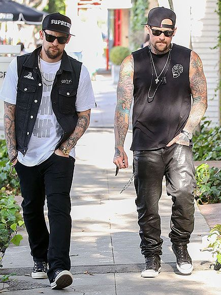 SEEING DOUBLE | Twin bros Benji and Joel Madden stay in step while out Monday in L.A.