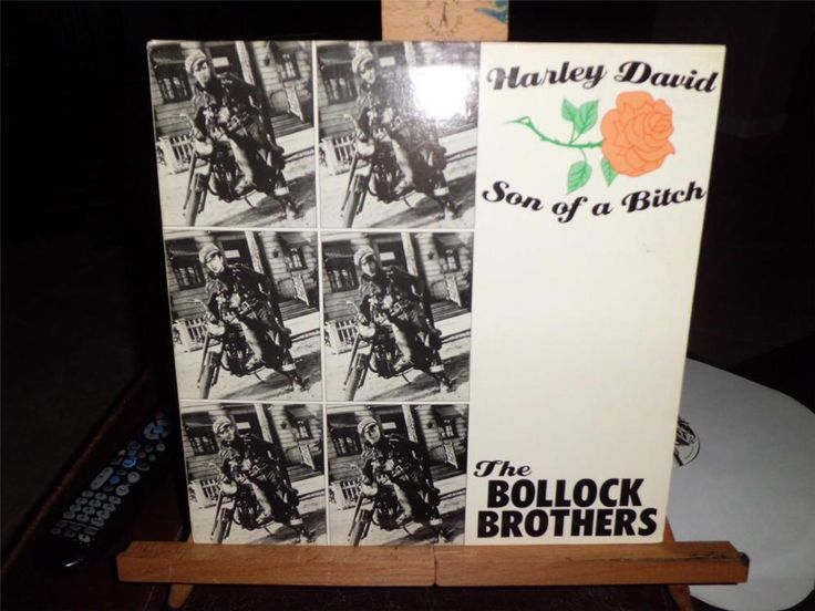 The Bollock Brothers-Harley David/Son of a Bitch-12in. 45 NM #Rock