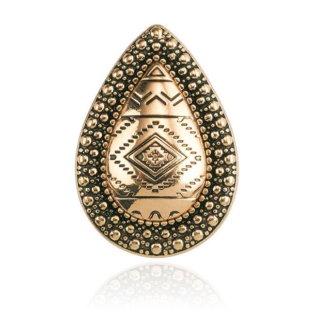 SAMANTHA WILLS - BOHEMIAN BARDOT RING - AZTEC GOLD INSTORE NOW #littleextras