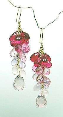 The 25 best pink topaz ideas on pinterest rose gold pink pink 14k gold pink topaz briolette gemstone chandelier earrings mozeypictures Gallery