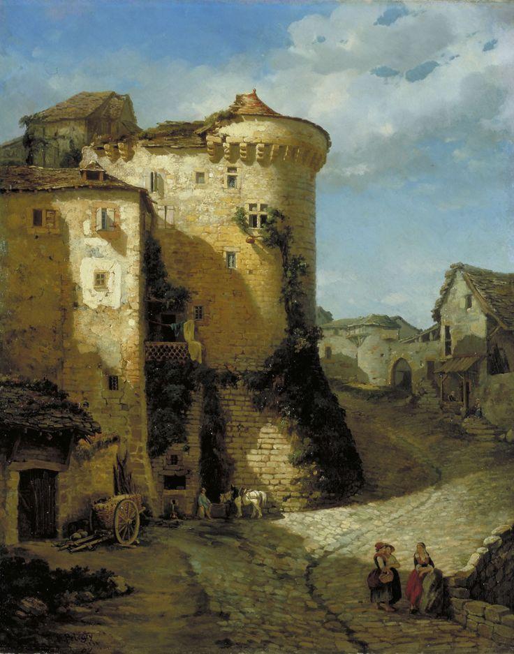 Arsène PELEGRY (L'Isle-d'Albi, 1813 - Toulouse, 1881), A Cordes d'Albigeois, 1858, huile sur toile, Inv. RO 190, Non exposé,  © Toulouse, musée des Augustins – photo Bernard Delorme