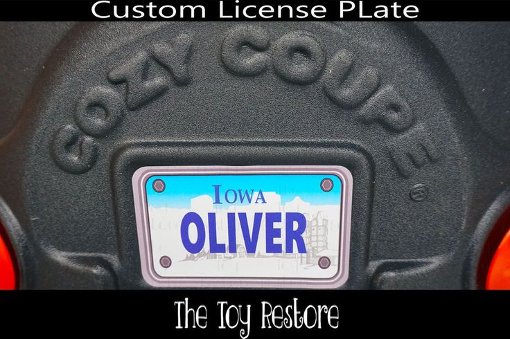Replacement Decals fits Little Tikes Cozy Coupe #Iowa Custom Number Plate #TheToyRestore #TheToyRestore #LittleTikes #CozyCoupe #LicensePlate #NumberPlate #Vanity #CozyCoupeRedo #CozyCoupeMod #CozyCoupeMakeover