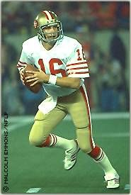 QB Joe Montana led the charge for the 49ers and helped San Francisco win it's first ever Super Bowl title and earned himself MVP honors.
