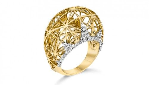 The Ivanka Trump Liberté Dome ring ($4,360) bears a strong architectural design with diamond accents.(ivankatrumpcollection.com)