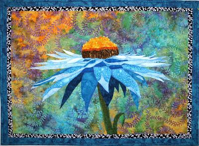 Cone Flower by Lenore Crawford (Lenore's Art World: Changing Fabric in a Pattern Completely Changes the Look)