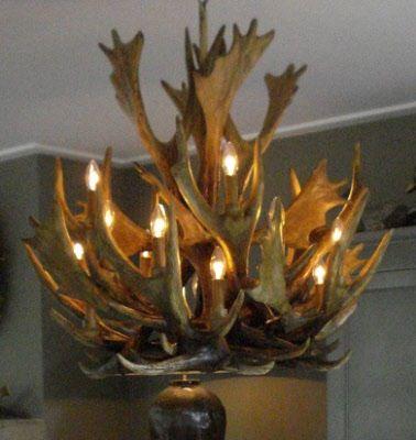 Landelijke Hanglamp Gewei Kroonluchter