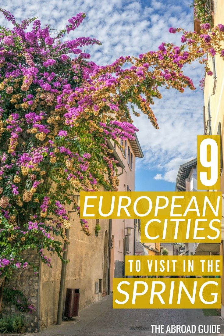 Top European Cities to Visit in the Spring - these cities in Europe are less crowded and have interesting things to do in the spring. Visit during the springtime and you'll get to do cool things while also having  good weather and less crowds.
