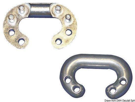 Falsa maglia in acciaio inox AISI 316 per catena calibrata