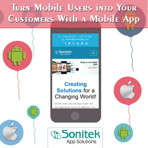 Find New Customers with a Mobile App! Know more here: http://www.sonitekapps.in  #sonitekapps #iphoneapps #androidapps #apps