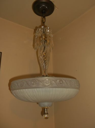 Stunning vintage art deco ceiling light fixture chandelier