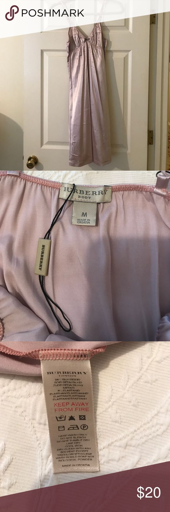 Burberry chemise nightgown. Burberry chemise nightgown.  NWT, size M (runs ver small, so I could not wear it).  Nude/blush color.  Short length Burberry Intimates & Sleepwear Chemises & Slips
