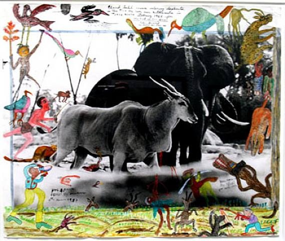 Peter Beard: Collage, Paint, Poem, and Printed Photograph