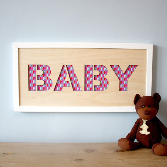 Personalise your baby's nursery with this lasercut wall art with photographs or artwork, or choose from our pattern designs