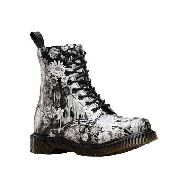 Combat boots women floral