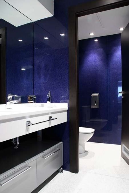 Commercial granite and restroom remodel on pinterest for Washroom renovation ideas