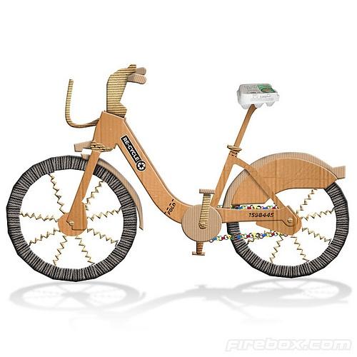 Firebox Recycle cardboard bicycle