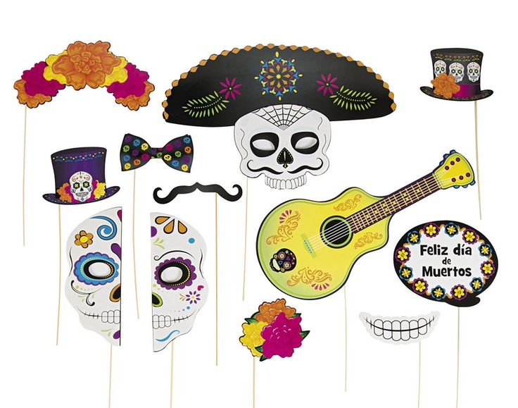 Day of the Dead Photo Booth Props for Halloween Parties | the littlecraftybugs…