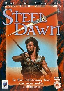 Steel Dawn.  Emblematic of the genre.  Patrick Swayze as a Jedi-type warrior on a Tatooine-like planet, playing white hat hero from a western against badlands baddies.
