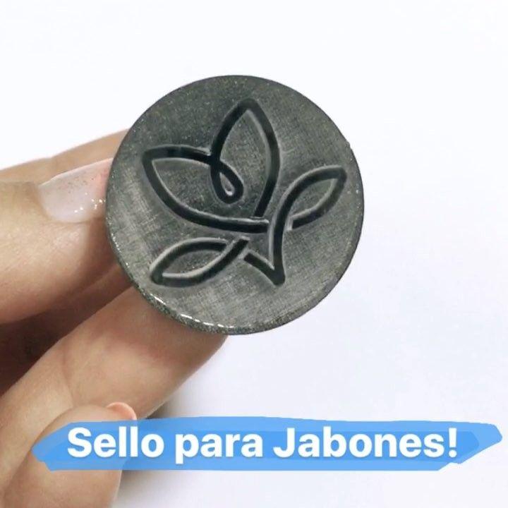 Sello para Jabones. También puede ser usado en fondant cerámica gres manualidades varias!! #gres #sello #diy #jabon #fondant #brand #marca #stamp