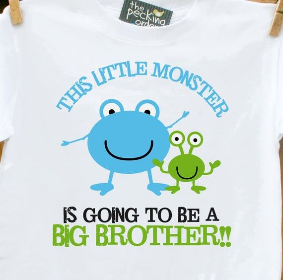 Is your little one about to be an older brother?! Is he a little monster and oh so sweet!? This is printed for a big brother but also can be made for